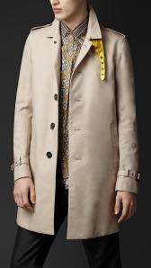 Burberry Metallic Undercollar Trench Coat